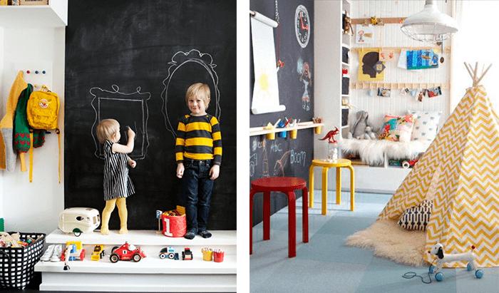 decoração-de-quartos Infantis- papel-parede
